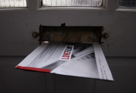 Lovefilm envelope through letterbox