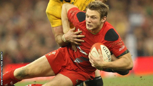Wales and Ospreys outside half Dan Biggar