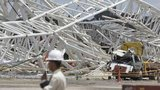 Two workers died last month when a crane fell onto one of the stands at Corinthians Arena in Sao Paulo