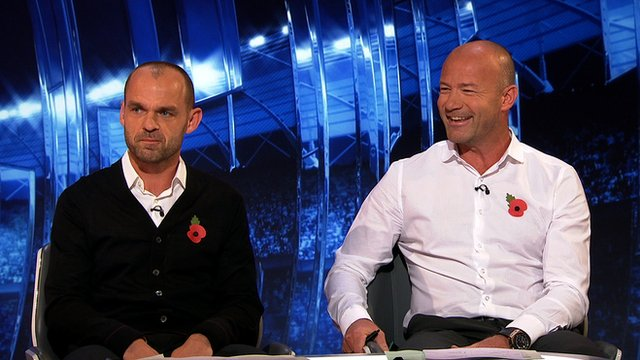 Danny Mills and Alan Shearer
