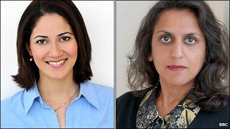 Mishal Husain and Ritula Shah