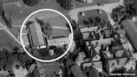 The aerial photo of the site