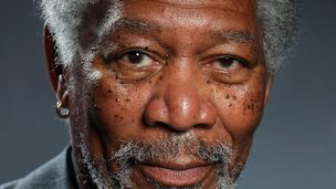 Morgan Freeman Finger painting