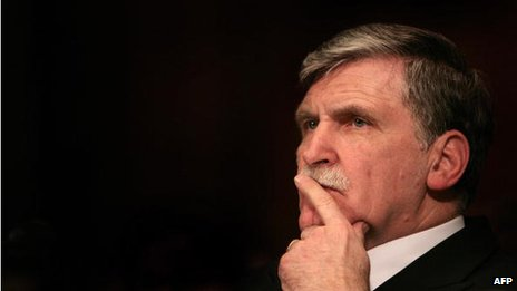 Senator Roméo Dallaire, seen in Washington DC on 5 February 2007