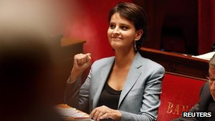 Women's Rights Minister Najat Vallaud-Belkacem, 4 Dec