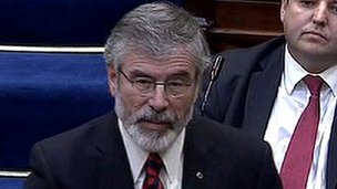 Gerry Adams in the Dail