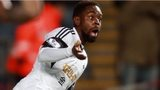 Swansea's Nathan Dyer celebrates scoring