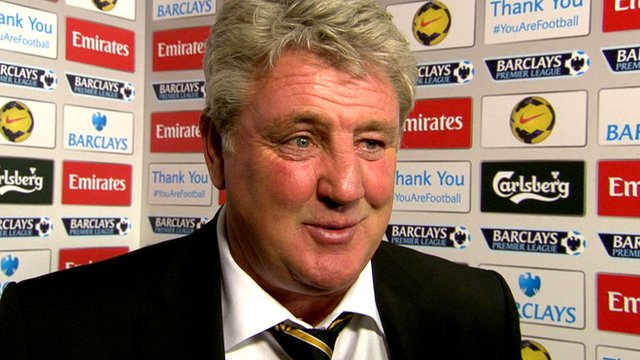 Steve Bruce talks after Hull's 2-0 defeat at Arsenal