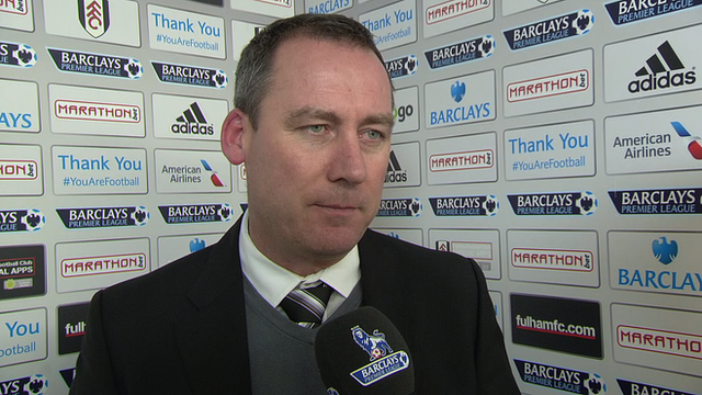 Fulham head coach Rene Meulensteen