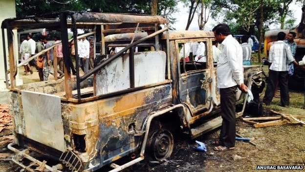 Burnt forest dept vehicle
