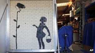 Flower Girl by Banksy