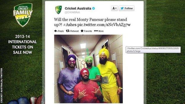 A Cricket Australia tweet