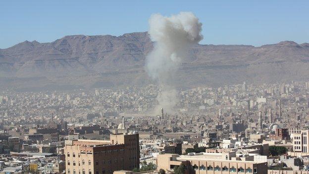 Explosion in Sanaa - 5 December