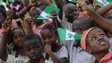 Children celebrating independence day in Nigeria - October 2013