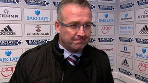 "Paul Lambert lauds a ""massive victory"" for Aston Villa over Southampton"