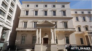 18 Carlton House Terrace which was for sale at £250m in April 2013