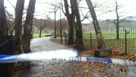 Large parts of the meadows in Edinburgh are closed off for tree inspections.
