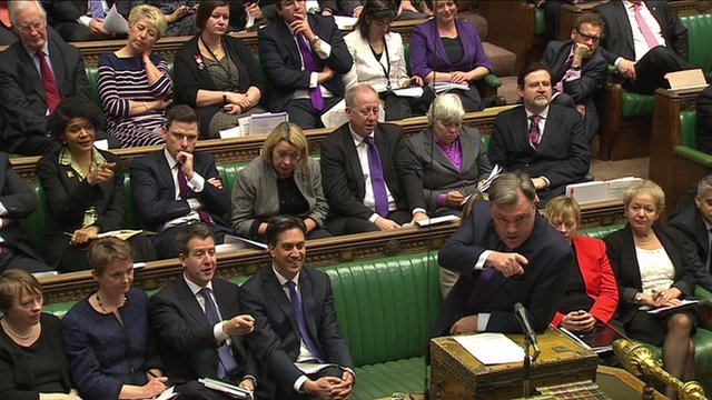 Ed Balls in the House of Commons