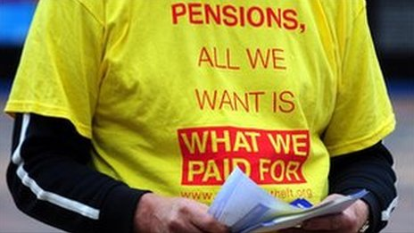 A pension protester outside the Liberal Democrat Annual Conference, at the ICC in Birmingham, 2011