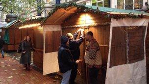German Market stall holders
