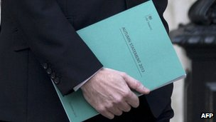 Autumn statement held by George Osborne