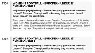 BBC Sport web page
