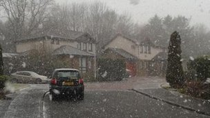 Snow in Glenrothes