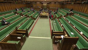 almost empty commons chamber