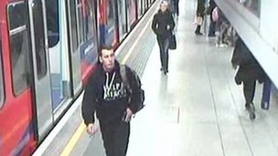 CCTV footage of Lee Rigby shortly before the attack