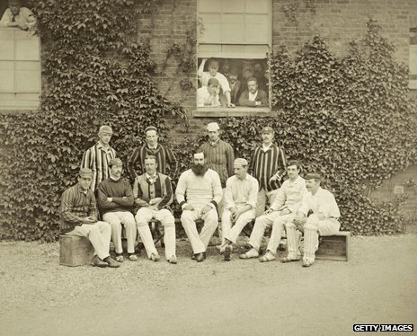WG Grace and other cricketers