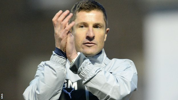 Raith Rovers manager Grant Murray