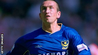 Justin Edinburgh in action for Portsmouth.