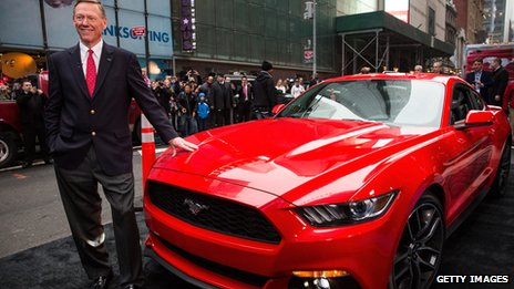 Ford mustang and alan mulally