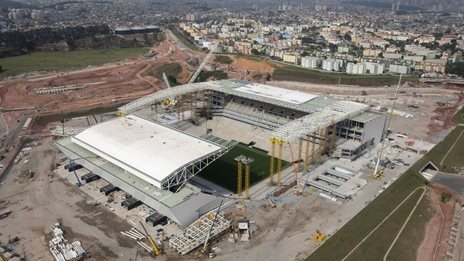 The new Arena Corinthians, or Itaquerao, on 3 Dec 2013