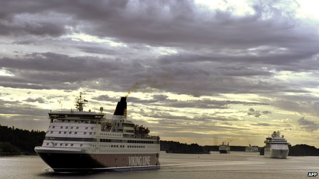 Finnish Viking Line ferry off Swedish coast - file pic
