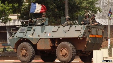 French troops in Bangui (5 Dec)