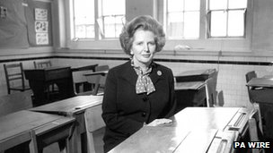 File photo of former Prime Minister Margaret Thatcher dated 1982