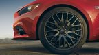 New Ford Mustang GT tyre close up