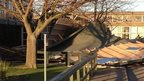 School Roof Blown off in High Winds