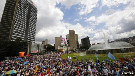 Opposition rally in Venezuela