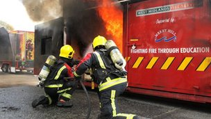 Fire station open day demonstration