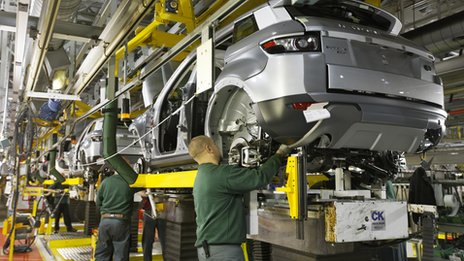 Evoque on the production line