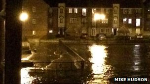 Flood at Victoria Dock