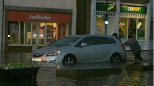 Flooding in Whitby