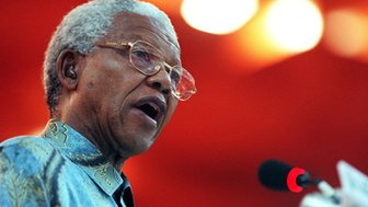 File photograph of Nelson Mandela