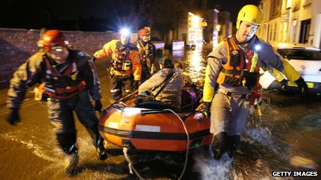 Rescue team in Boston, Lincs