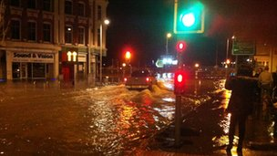 Lowestoft flooded