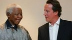 David Cameron met Nelson Mandela in 2006