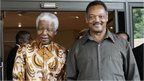 Nelson Mandela and the Reverend Jesse Jackson