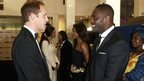 Prince William meets actor Idris Elba at the Royal Premiere of Mandela: Long Walk to Freedom